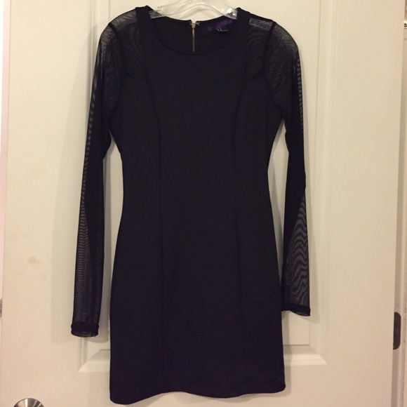 Forever 21 Dresses & Skirts - Black long sleeve mesh dress