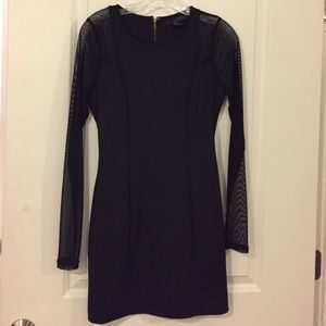Forever 21 Dresses - Black long sleeve mesh dress