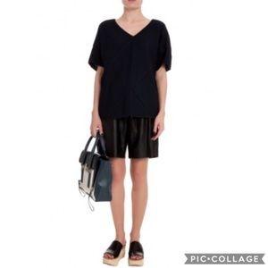 $1,001 Derek Lam 10 Crosby Black Leather Shorts