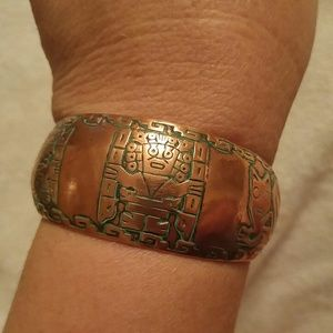 Jewelry - Vintage Copper Cuff Bracelet Engraved Designs
