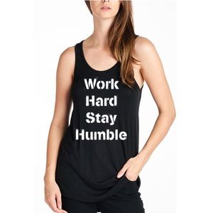 """Work Hard Stay Humble"" Tank"