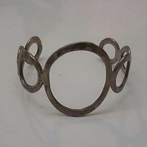 Jewelry - Estate open handwrought sterling silver bangle