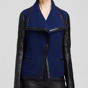 Vince Wool and Leather Scuba Jacket