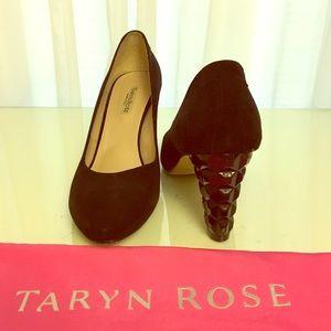 Taryn Rose Suede Studded Heels Size 40 EU, 10 US