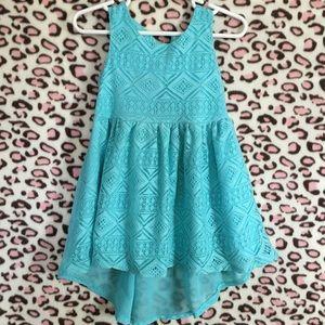 3T Turquoise Hi-Lo Dress