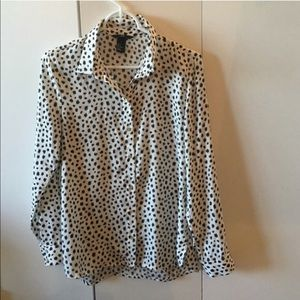 H&M - Black & White blouse - Great condition