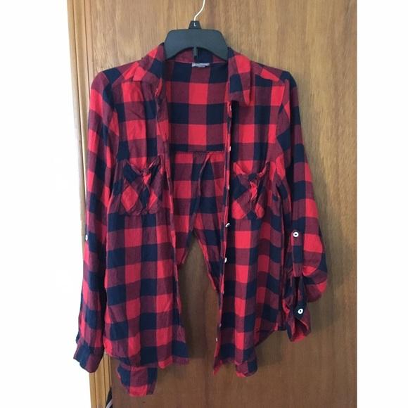 f9c0f77d4 Flannel shirt with open back. M_58703477bcd4a7c4440212c9