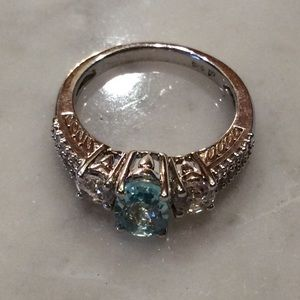 simplylovable Jewelry - Aqua Marnie Birthstone Ring