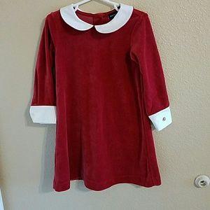 Ralph Lauren Other - Ralph Lauren NWOT Red Velvet Dress size 3T