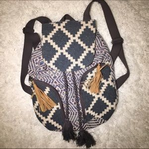 Urban Outfitters Handbags - Patterned woven backpack