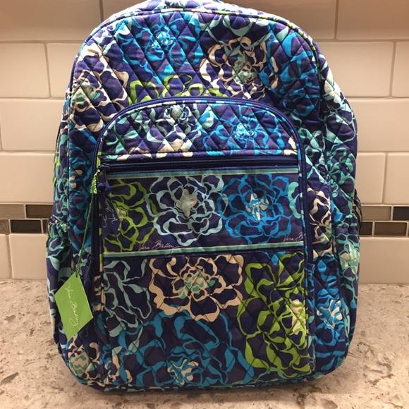 6c1e121a3 Vera Bradley Bags | Nwt Campus Backpack Katalina Blue | Poshmark