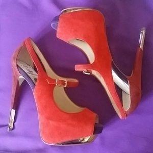 Boutique 9 Shoes - Boutique 9 Sexy Suede Platform Peep Toe Pumps 7.5