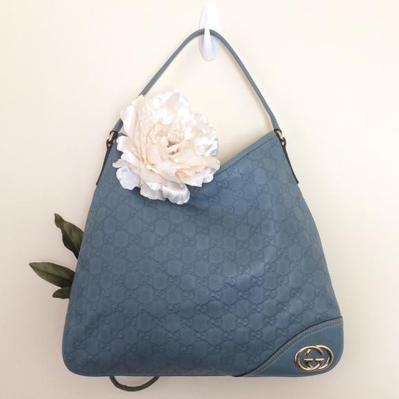5d6924222e6 Gucci Handbags - 💎RARE💎 Auth GUCCI New Britt Leather Hobo Bag Blu
