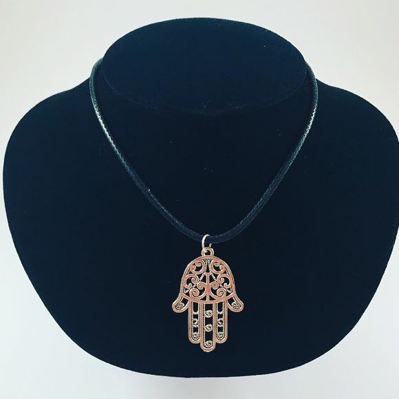 30 off other men leather necklace hamsa hand of god charm men leather necklace hamsa hand of god charm aloadofball Choice Image