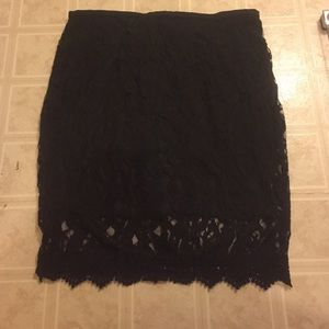 Monif C. Dresses & Skirts - Black lace skirt