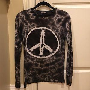 Allen Allen Tops - Tye Dyed peace shirt