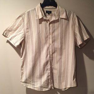 Sonoma Other - Sonoma men's short sleeve cream Plaid button front