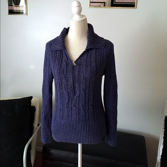 99% off DKNY Sweaters - ♢️Sale♢️DKNY Jeans Blue Purple Sweater ...