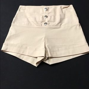 Pants - Three button taupe sailor shorts