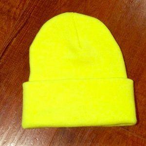 Neon Yellow Beanie