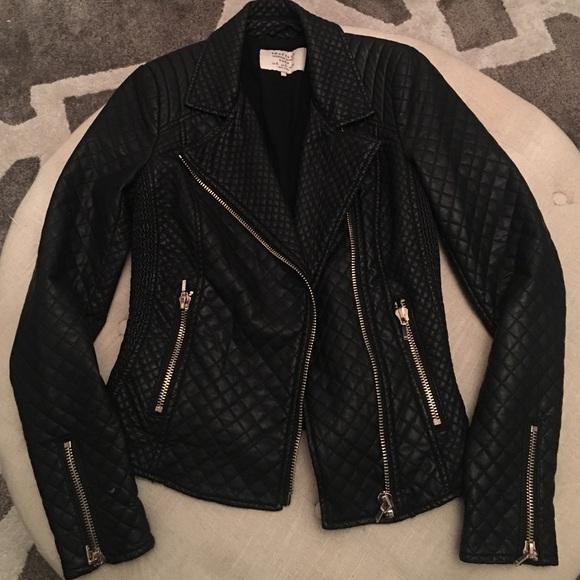 64% off Zara Jackets & Blazers - Zara Trafaluc Quilted Leather ... : zara leather quilted jacket - Adamdwight.com