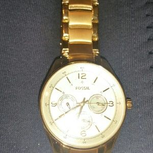 FOSSIL ladies gold watch
