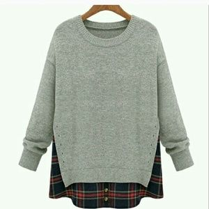 "Goodnight Macaroon Sweaters - ""Goodnight Macaroon"" Crewneck Gray  Sweater"