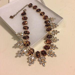 Tortoise shell & gemstone statement necklace