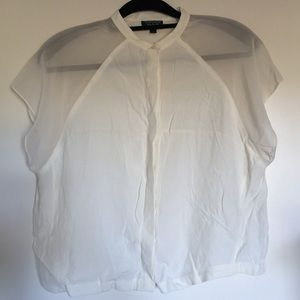 Like New Topshop Off White Blouse