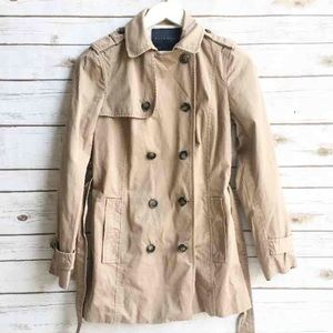 Zara Jackets & Blazers - ZARA Basic Trench Coat - Tan Cotton Mix