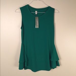 Lilac Clothing Tops - Green sleeveless blouse. Small.