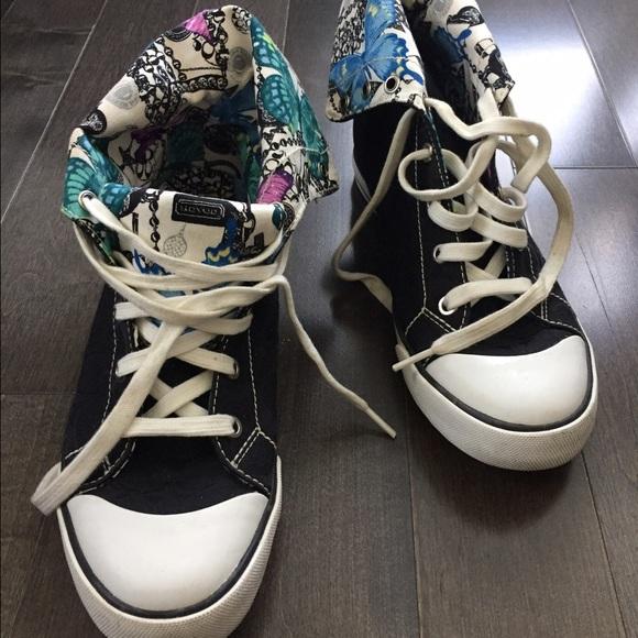 Coach Shoes High Top Tennis Poshmark
