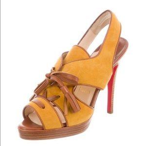 Christian Louboutin Shoes - Christian Louboutin Suede Platform Heels