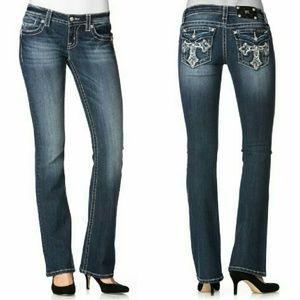 Miss Me Denim - New! Miss Me Cross Pocket Bootcut Blue Jeans NWT