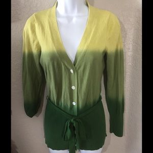 Axcess Sweaters - Axcess Cardigan Ombré Green Size S