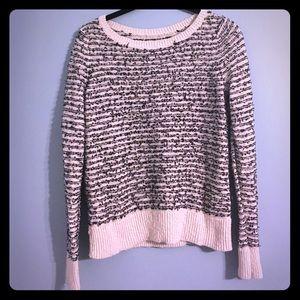 Ann Taylor Loft cream and black sweater. Sz SP.