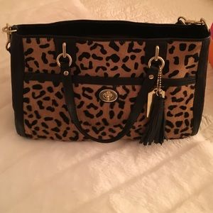 Coach Handbags - Coach leopard new w tag calfhair