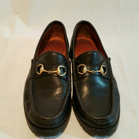 ea82269b0 Gucci Shoes | Womens Leather Horsebit Lug Sole Loafers | Poshmark