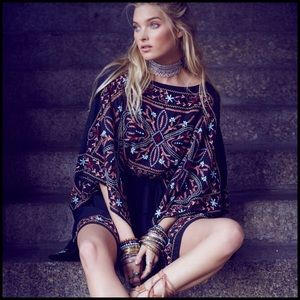 Free People Dresses & Skirts - Sheer Batiste Frida Embroidered Mini Dress