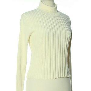 Preston & York Sweaters - Ivory Cream Ribbed Sweater Longsleeve Vintage Smal