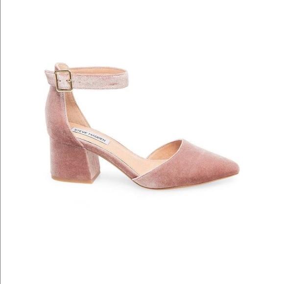 e42294fe373 Brand New Steve Madden low heel pink velvet size 7 NWT
