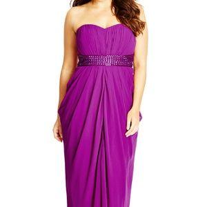 Violet draped dress