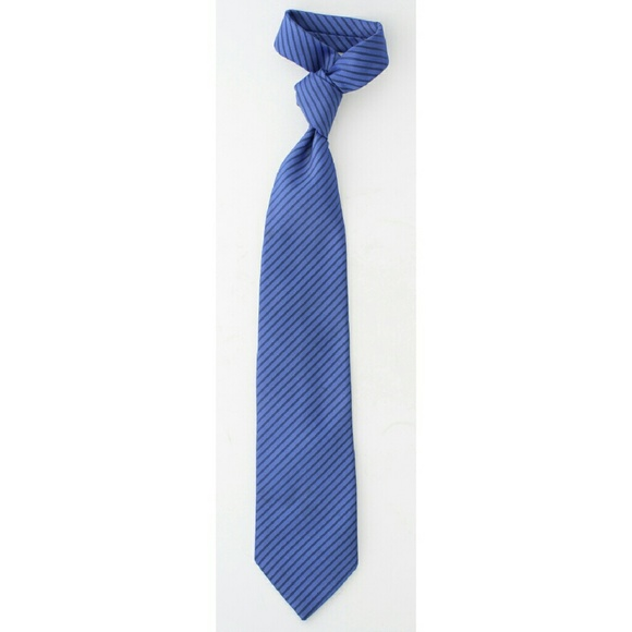 Burton Accessories - Blue Diagonal Stripe Tie Business Formal Men's
