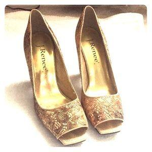 J. Rene Gold shoes