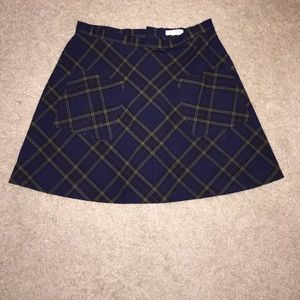 Urban Outfitters Silence + Noise Plaid Mini Skirt