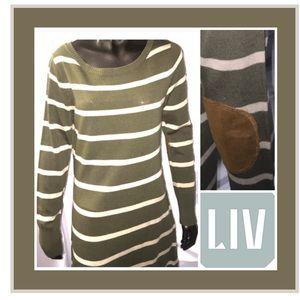 LIV Dresses & Skirts - LIV MIDI SWEATER /SUEDE ELBOWS DRESS