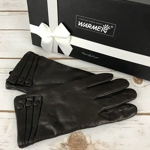 Warmen's Touchscreen Texting Leather Gloves