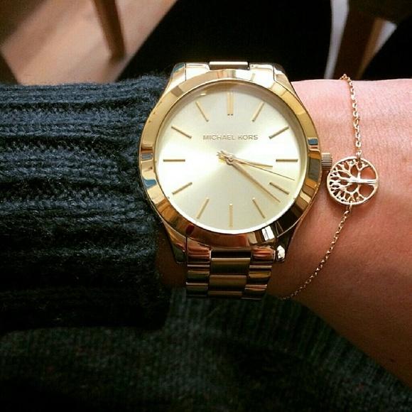 76f31fa7c8a6 Michael Kors Runway MK Glam bracelet watch MK3179