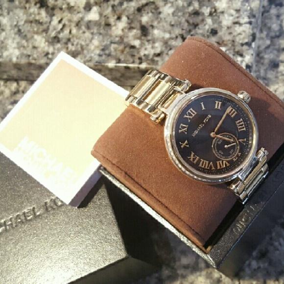 6e4447fe7023 Michael Kors Skylar MK bracelet Glitz watch MK5989
