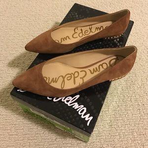 404559070 Sam Edelman Shoes - NEW Sam Edelman Reyanne Spiked Flats- Brown/ Camel